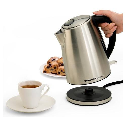 Cordless Tea Kettle  With Tea and Cookies